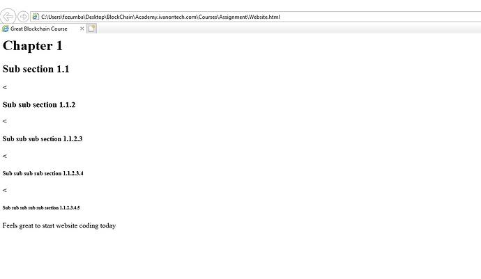 HTML website error