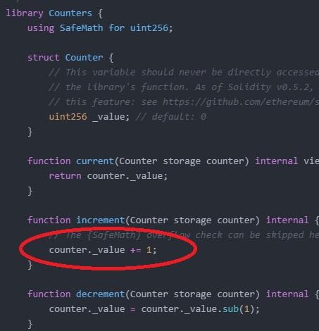 CountersIncrementSafeMath