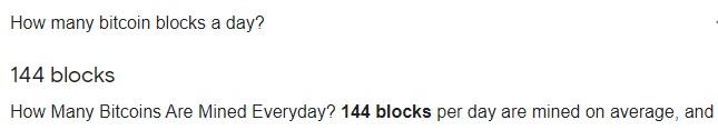 BitCoinBlocksPerDay